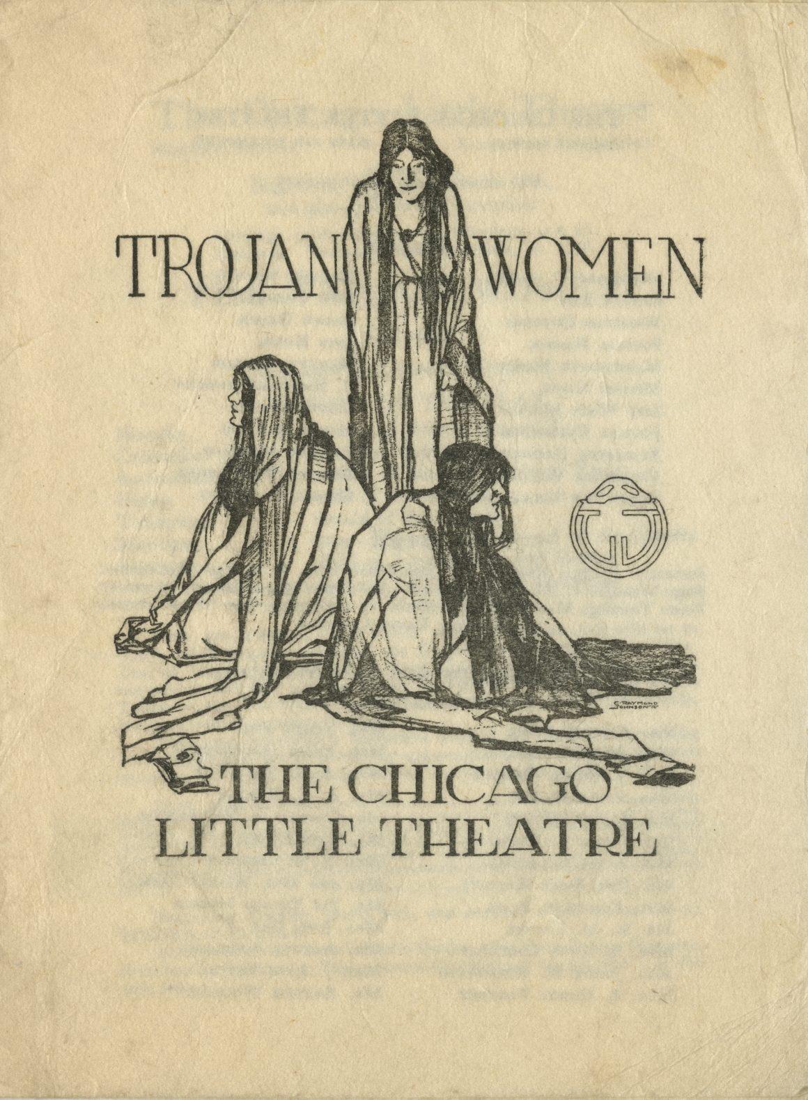 Program cover for The Trojan Women, Chicago Little Theatre, 1914