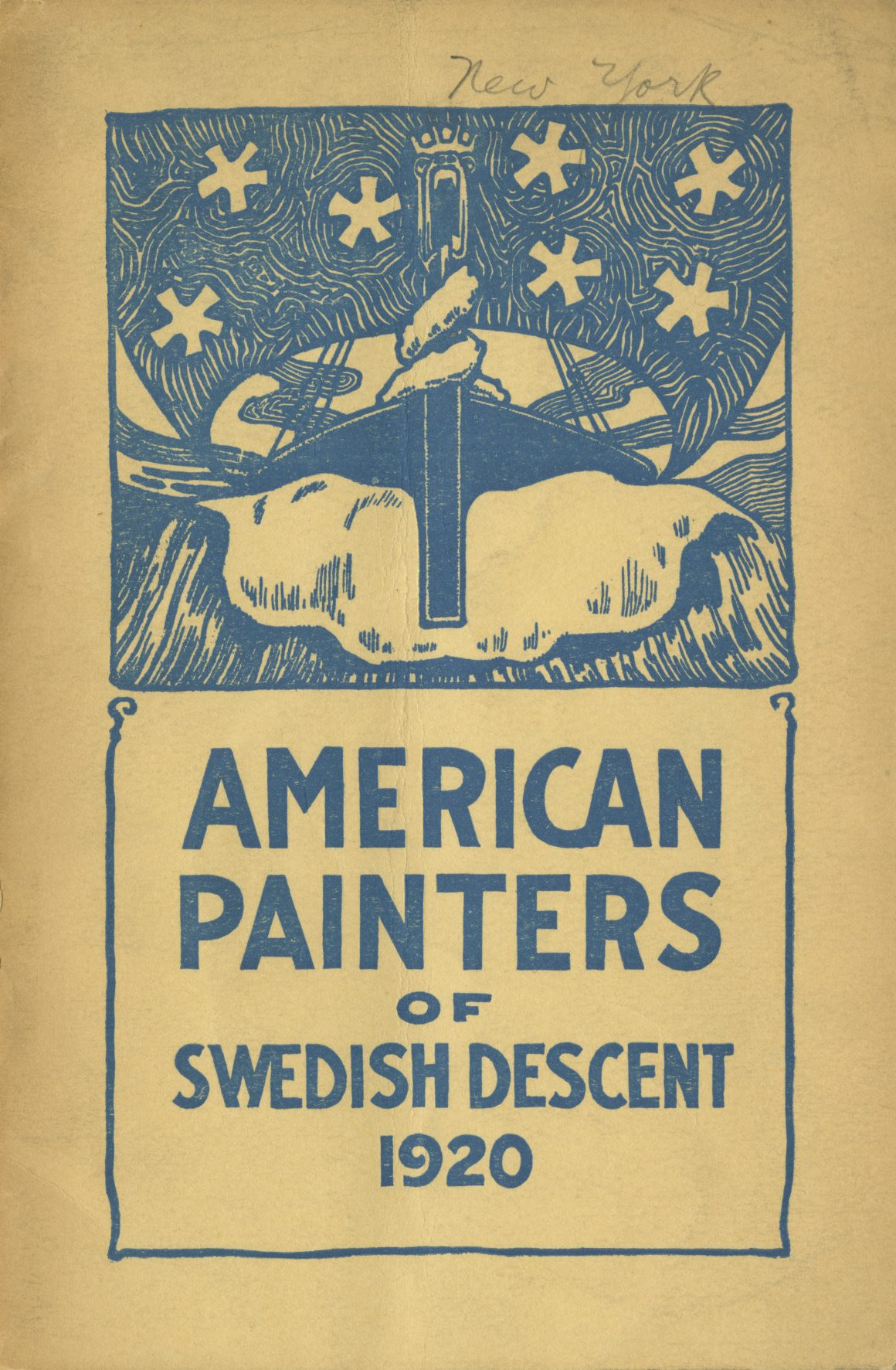 Cover for American Painters of Swedish Descent Catalog, New York, 1920