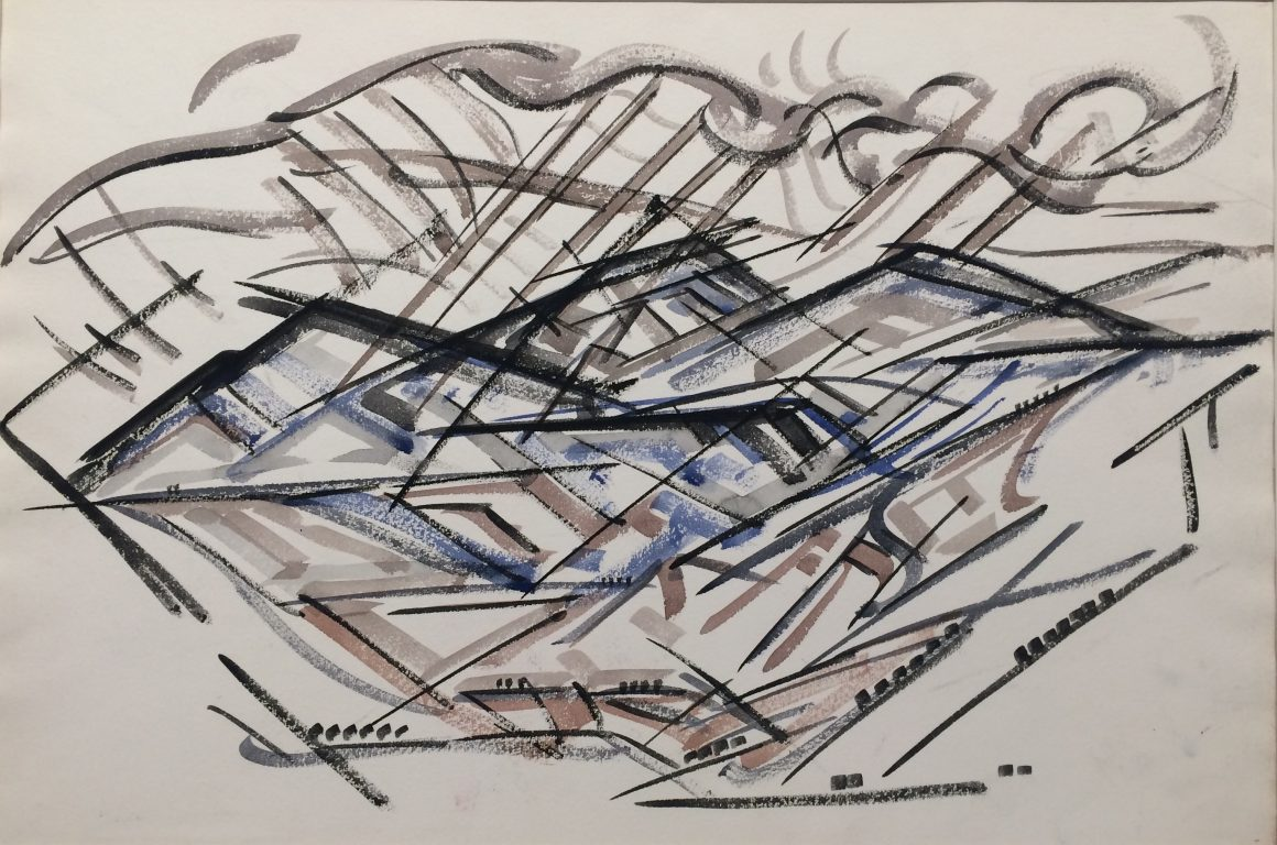 Cady Wells, Taos Mountain, 1933, Watercolor on paper, Gift of the estate of Cady Wells