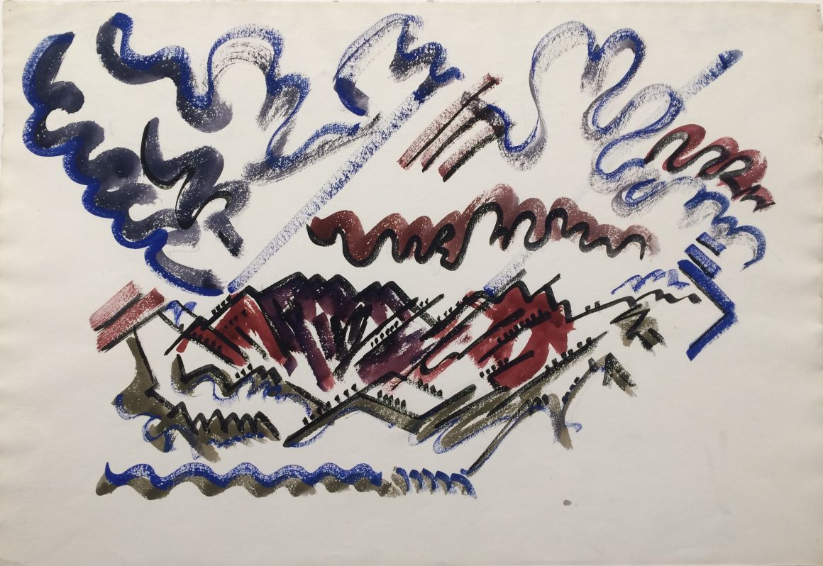 Cady Wells, Purple Mountains - Taos, 1933, Watercolor on paper, Gift of the estate of Cady Wells