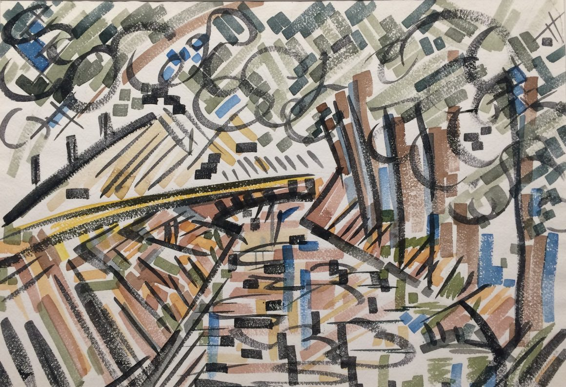 Cady Wells, Acequia - Alcalde, 1933, Watercolor on paper, Gift of the estate of Cady Wells