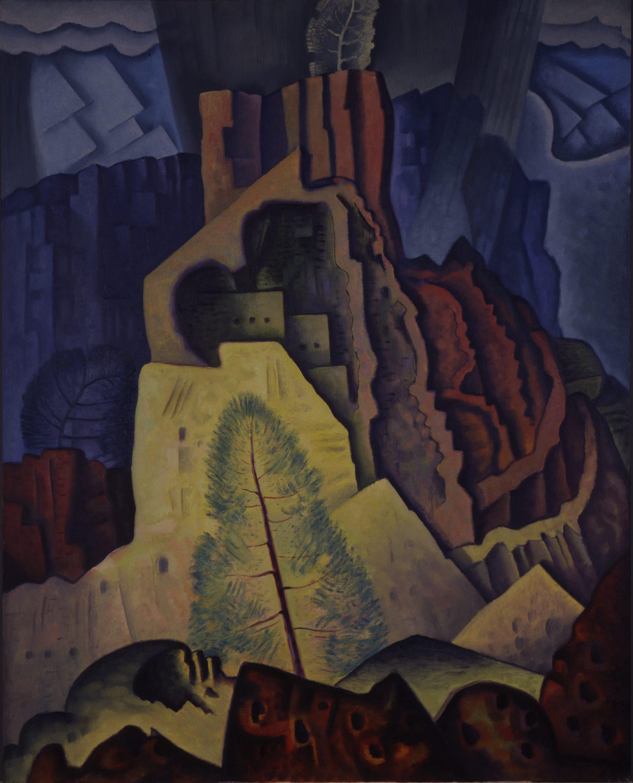 Cliff Dwellings No. 3, 1927, Oil on canvas, Bequest of Raymond Jonson, Raymond Jonson Collection