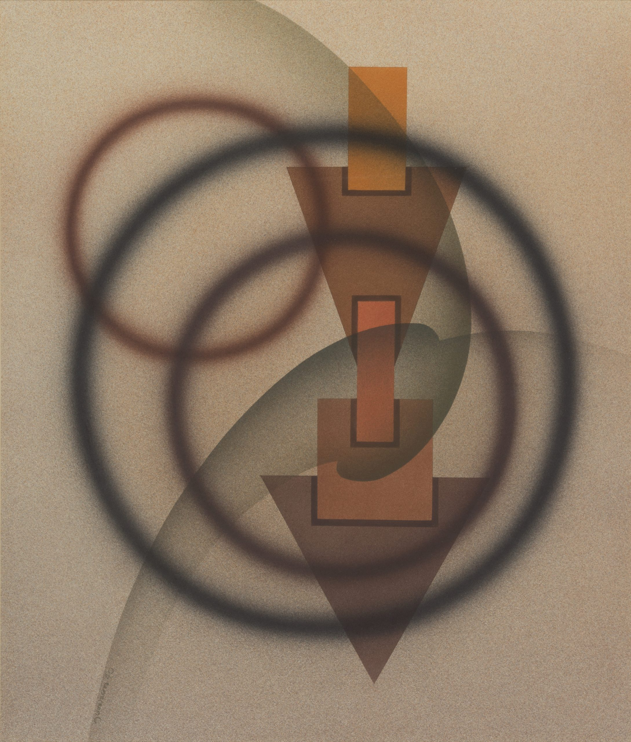 Esoteric Trilogy - 1st State (Watercolor No. 24), 1940, Watercolor on paper, Bequest of Raymond Jonson, Raymond Jonson Collection