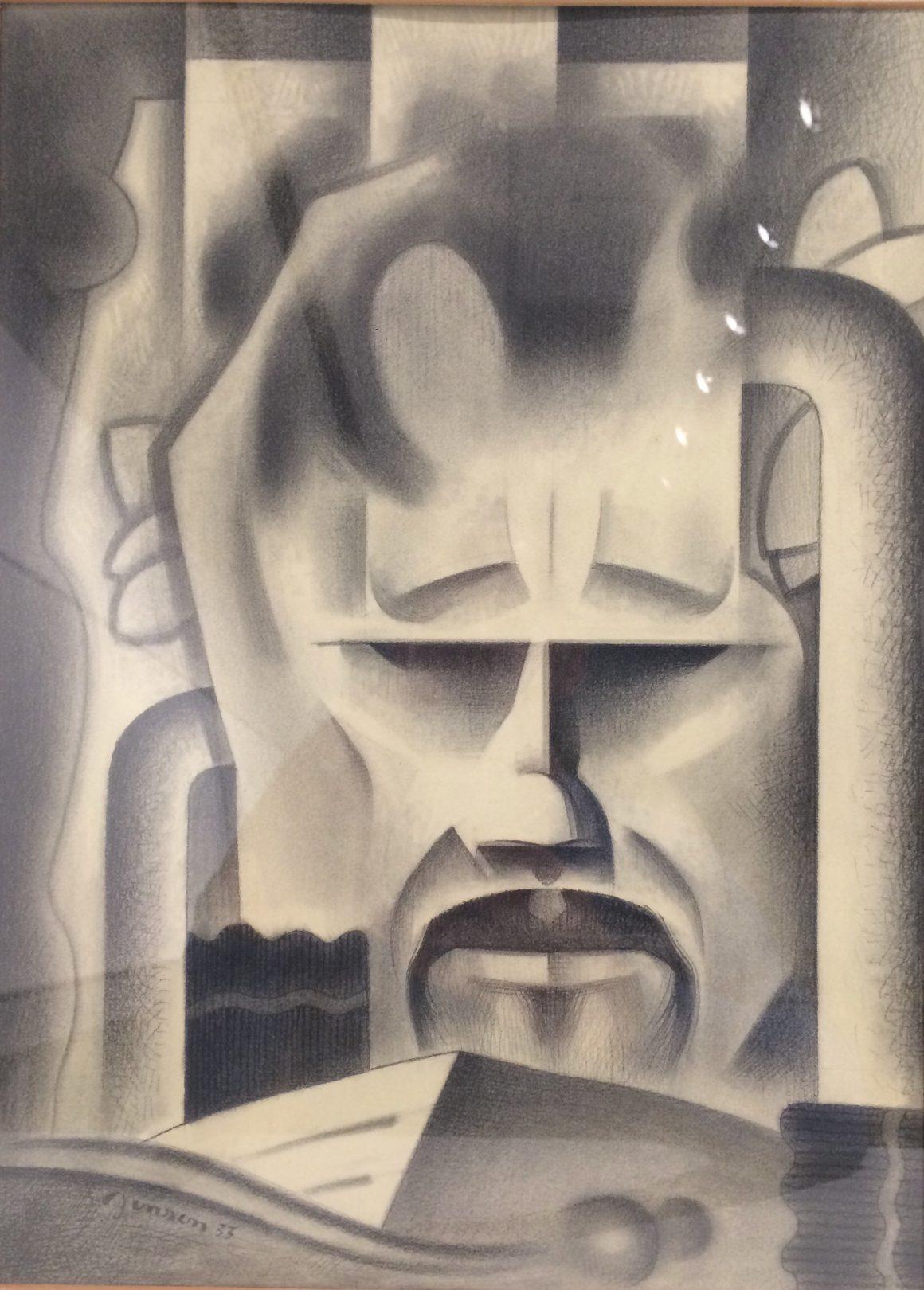 Mask, 1933, Graphite on paper, Bequest of Raymond Jonson, Raymond Jonson Collection