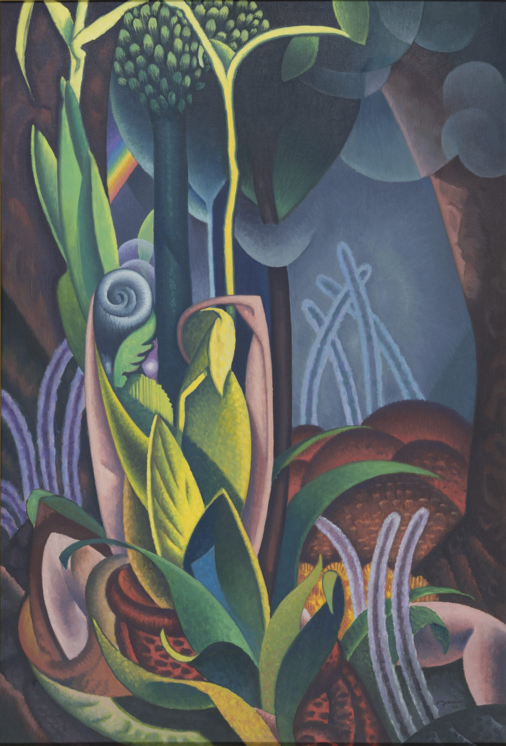 Spring from the Seasons Series, 1926, Oil on canvas, Gift of May Van Dyke to the Raymond Jonson Collection