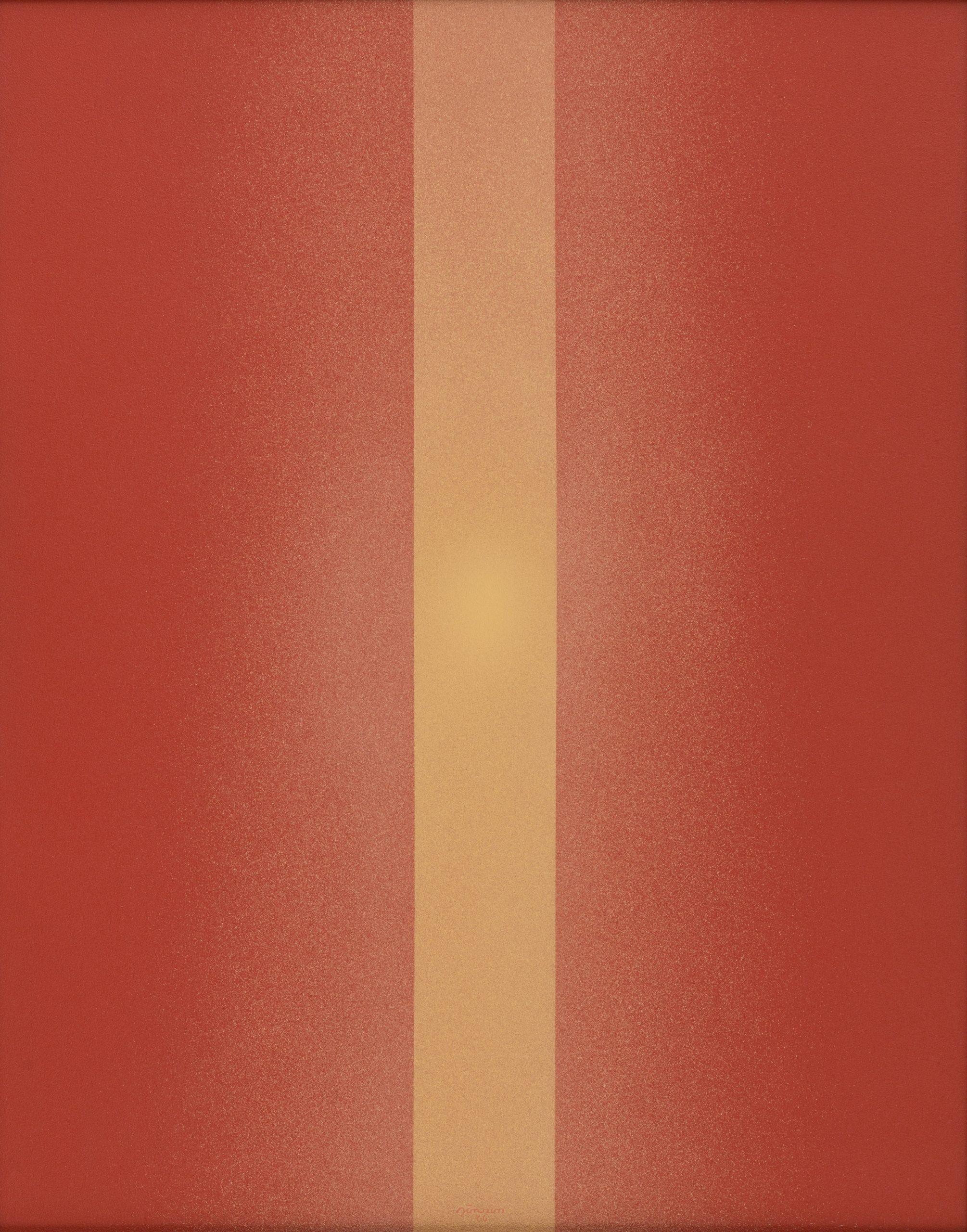 Light - A Trilogy (Polymer No. 11), 1966, Acrylic on Masonite