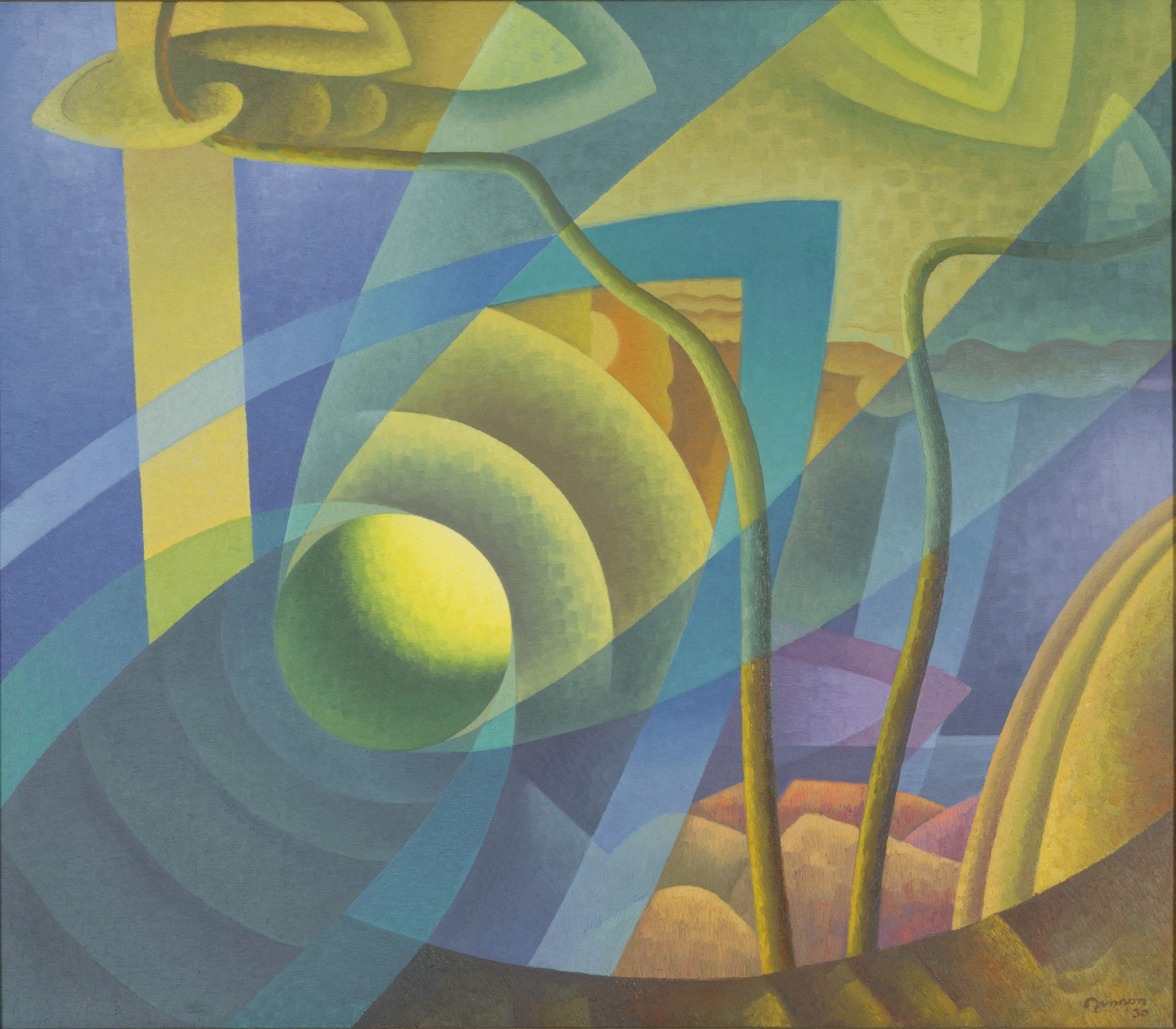 Time Cycle (Morning), 1930, Oil on canvas, Bequest of Raymond Jonson, Raymond Jonson Collection