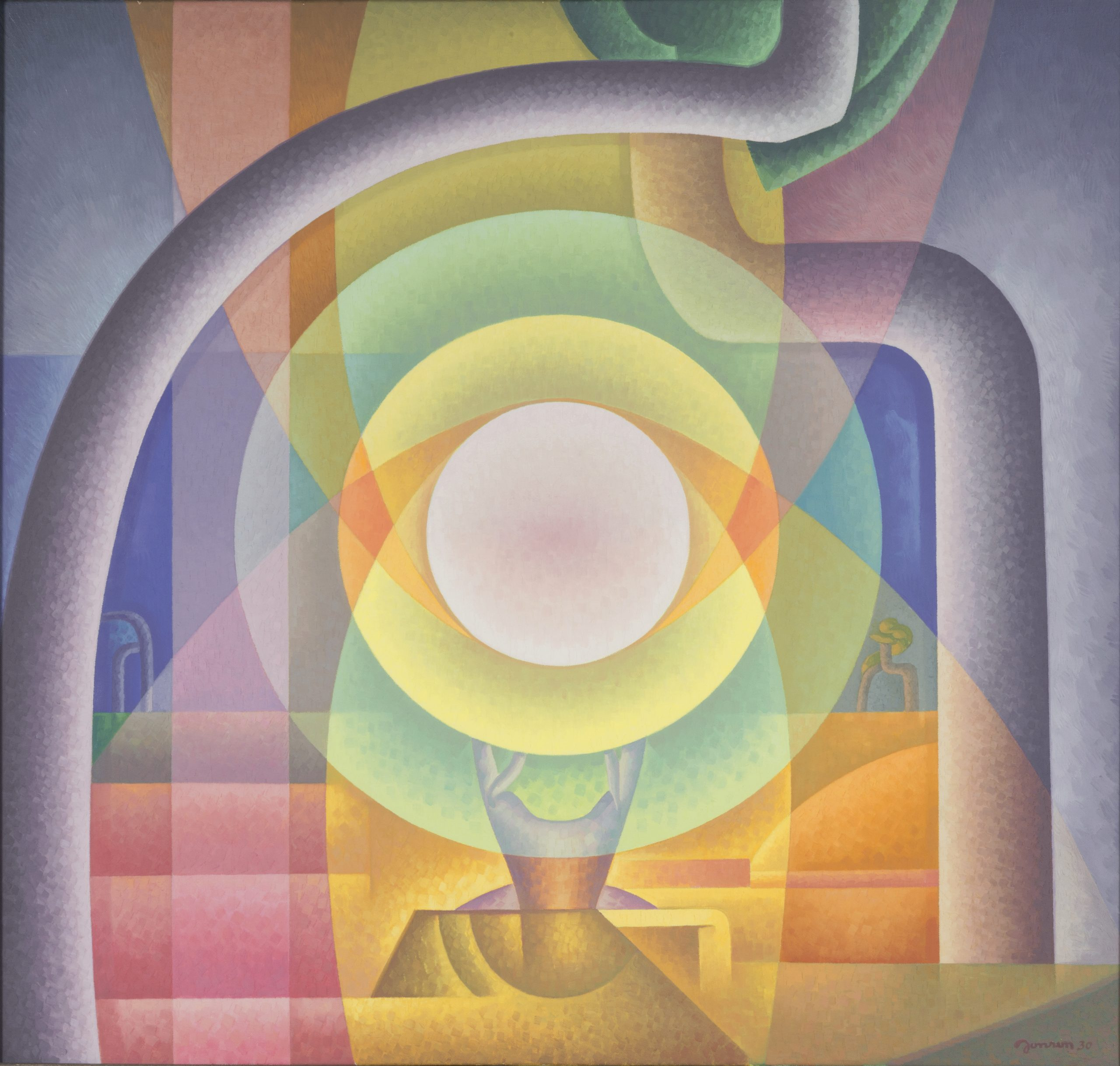 Time Cycle (Noon), 1930, Oil on canvas, Bequest of Raymond Jonson, Raymond Jonson Collection