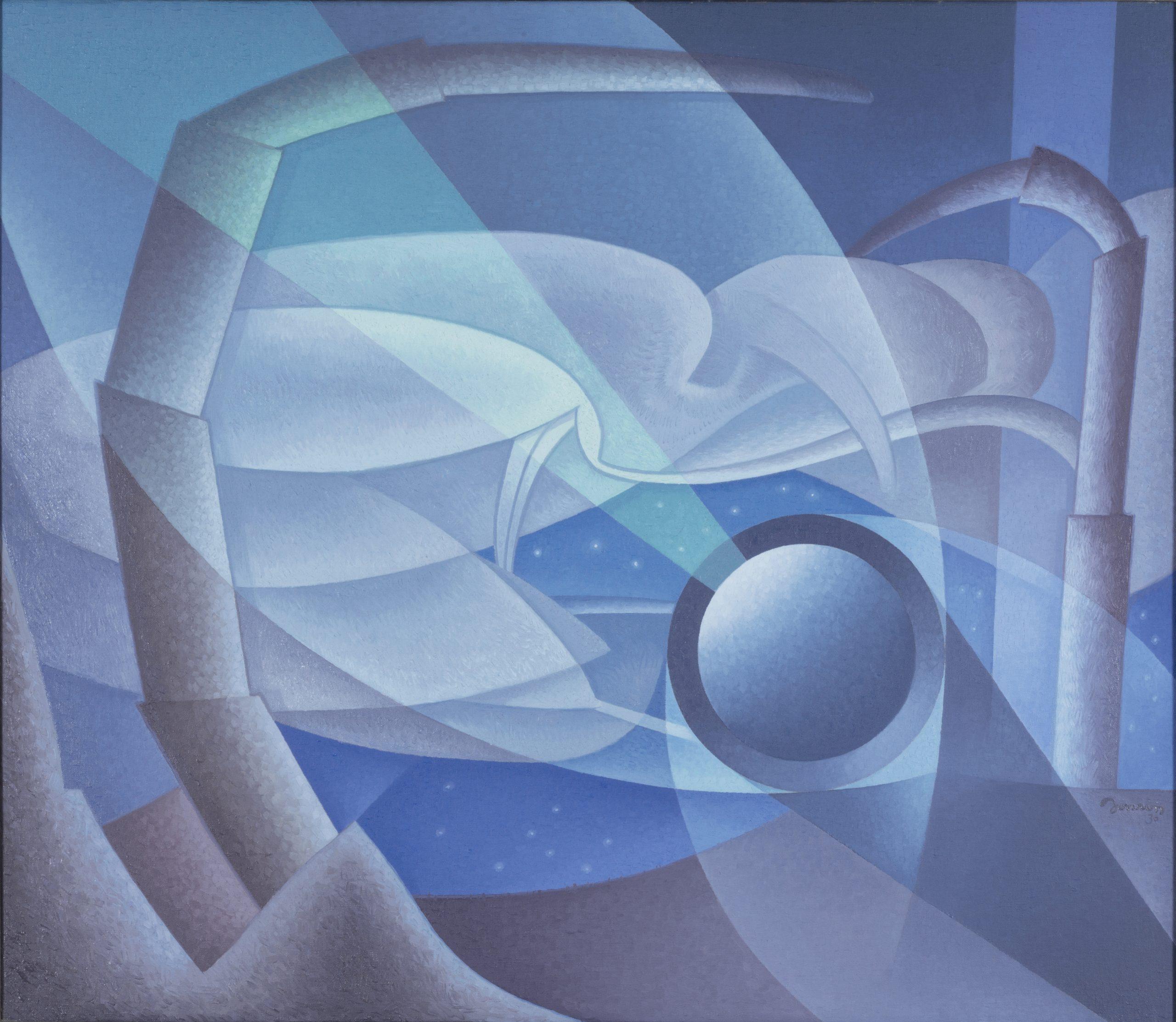 Time Cycle (Night), 1930, Oil on canvas, Bequest of Raymond Jonson, Raymond Jonson Collection