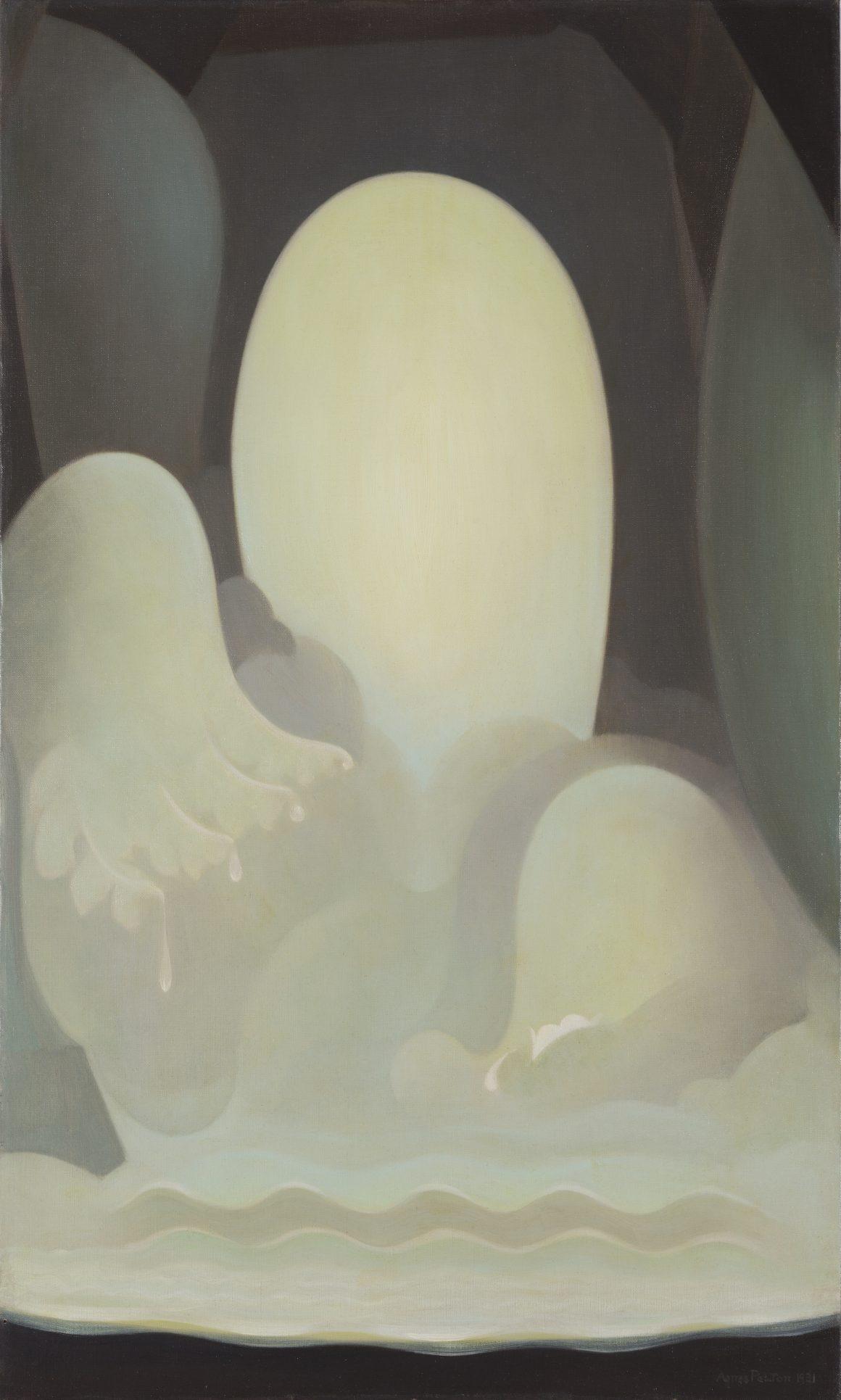 Agnes Pelton, Wells of Jade, 1931, Oil on canvas, Bequest of Raymond Jonson, Raymond Jonson Collection