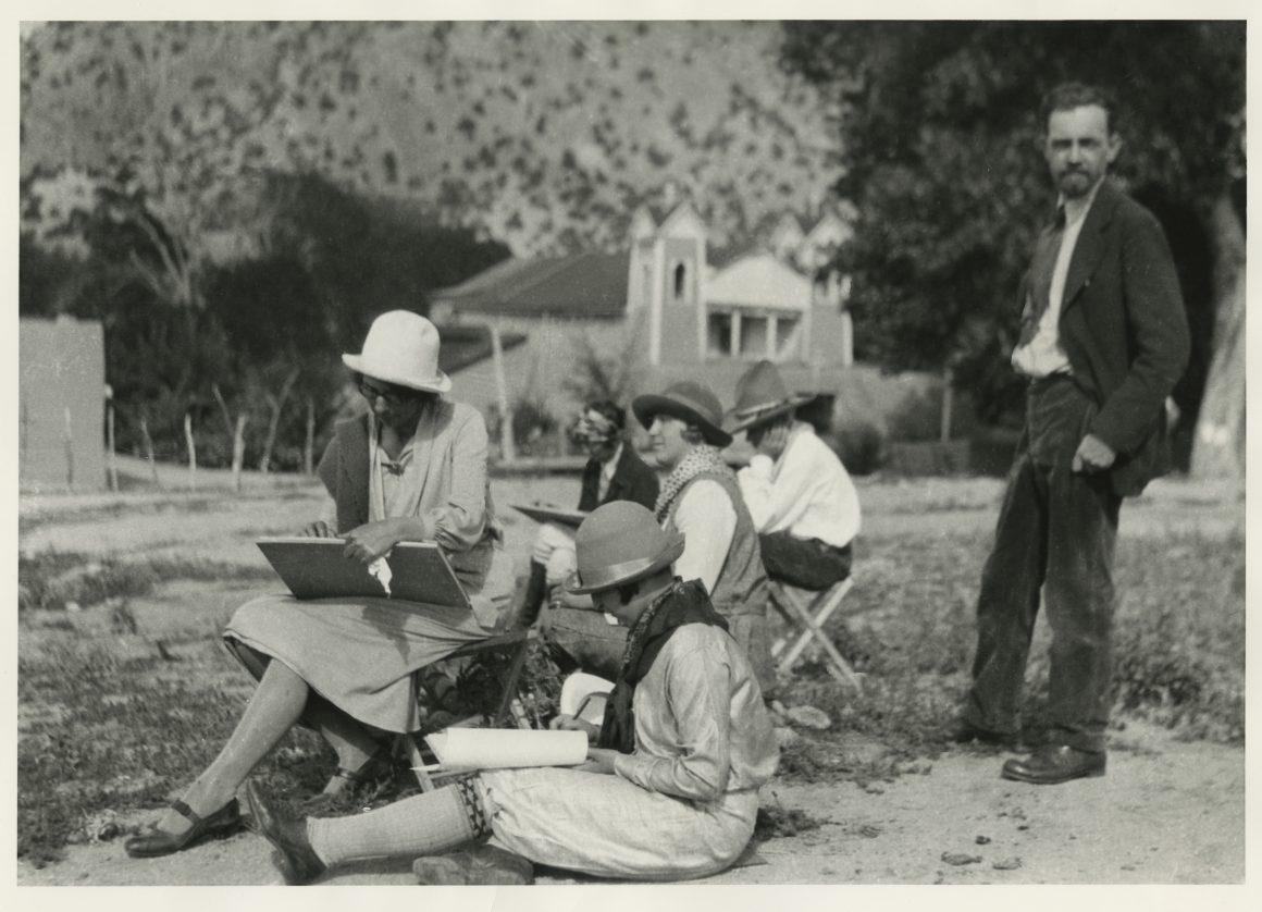 Atalaya Art School Class, 1926, Field trip to Chimayo
