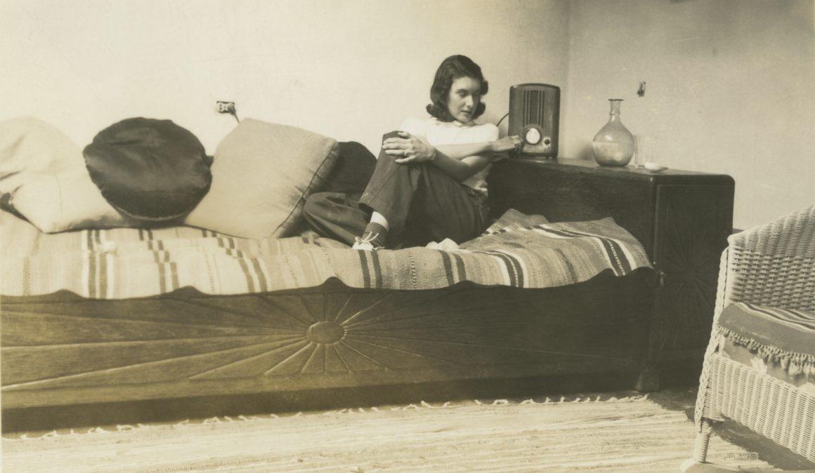 Florence Miller Pierce's first studio in Taos, 1937